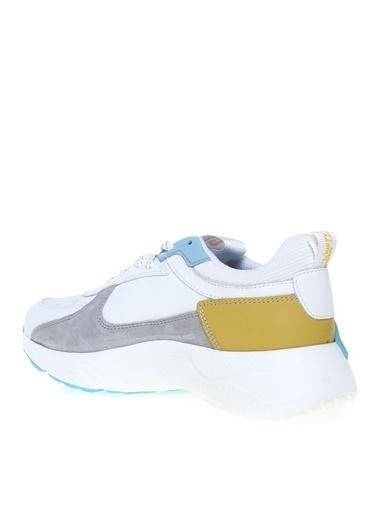 Greyder Greyder Beyaz-Mavi Sneaker Beyaz